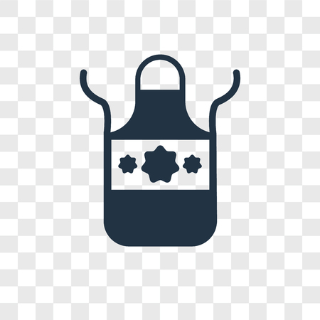 Apron vector icon isolated on transparent background, Apron logo concept