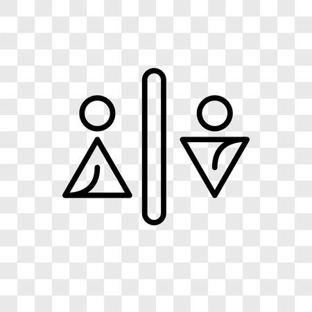 Toilets vector icon isolated on transparent background, Toilets logo concept Foto de archivo - 107701140