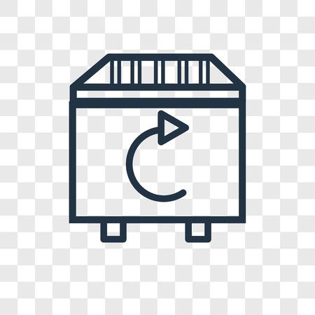 Icône de vecteur de corbeille isolé sur fond transparent, notion de logo de corbeille Logo