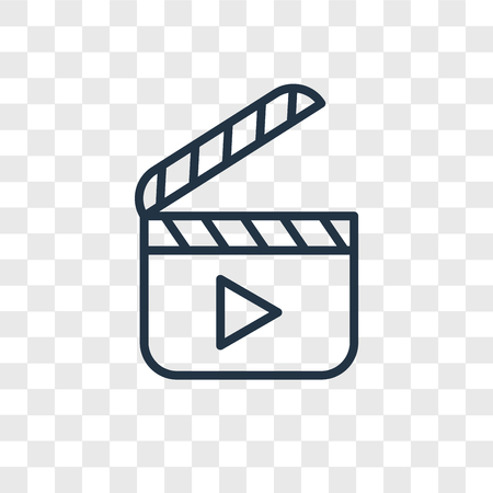 Video player vector icon isolated on transparent background, Video player logo concept Çizim