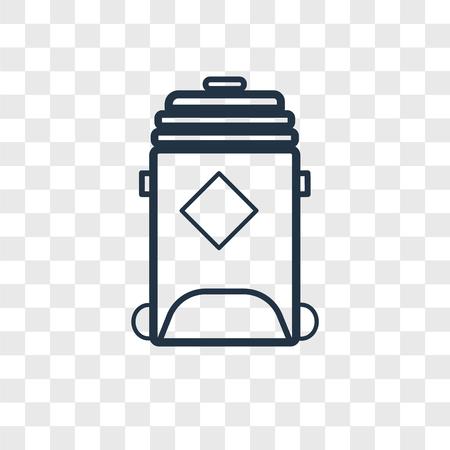 Icône de vecteur de bac de recyclage isolé sur fond transparent, concept de logo de bac de recyclage