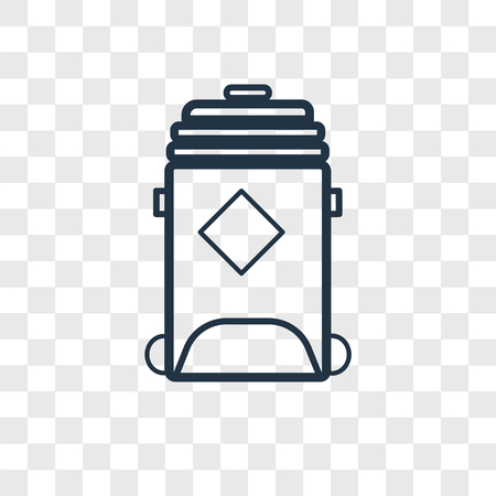 Recycling bin vector icon isolated on transparent background, Recycling bin logo concept Banque d'images - 107701039