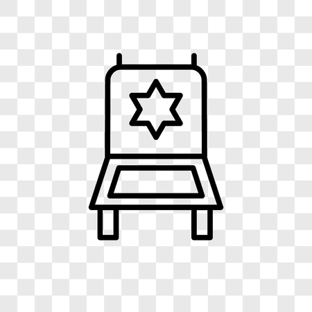 Director chair vector icon isolated on transparent background, Director chair logo concept