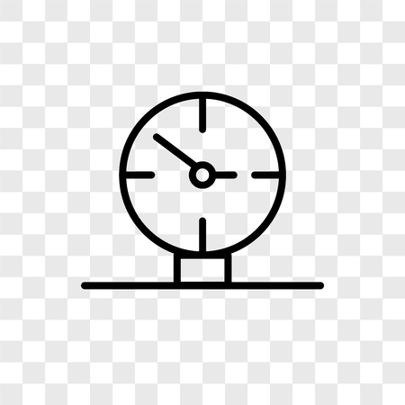 Wall clock vector icon isolated on transparent background, Wall clock logo concept  イラスト・ベクター素材