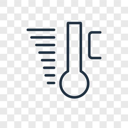 Temperature vector icon isolated on transparent background, Temperature logo concept