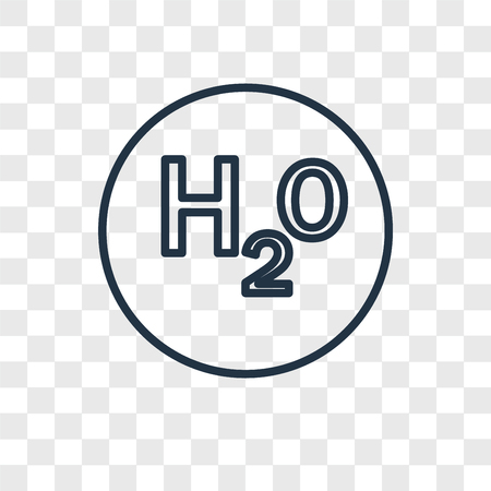 H2o vector icon isolated on transparent background, H2o logo concept