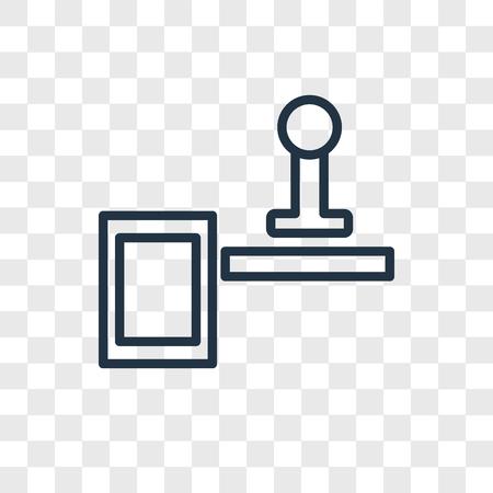 Icône de vecteur de timbre isolé sur fond transparent, concept logo timbre Logo