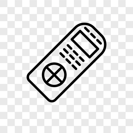 Remote control vector icon isolated on transparent background, Remote control logo concept Stock Illustratie