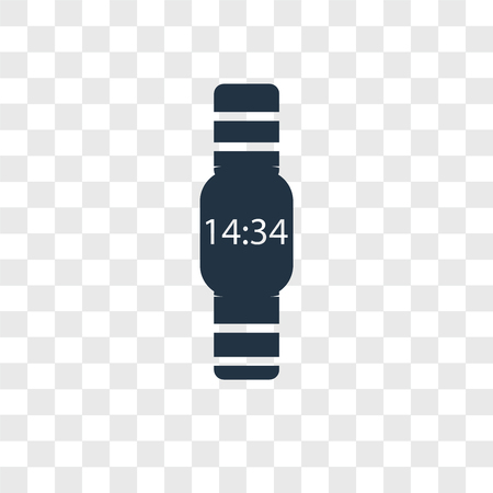 Watch vector icon isolated on transparent background, Watch logo concept Stock Vector - 107700877