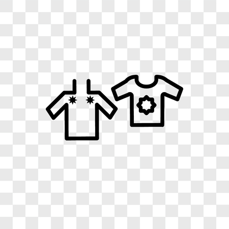 Clothes vector icon isolated on transparent background, Clothes logo concept Banque d'images - 107700846