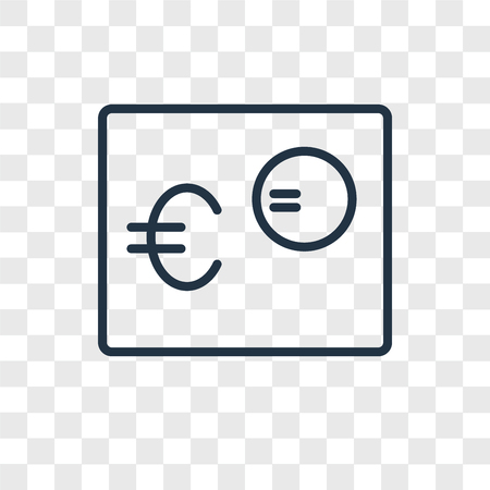 Euro vector icon isolated on transparent background, Euro logo concept