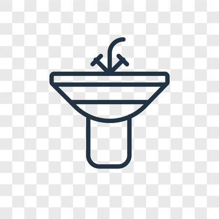 Sink vector icon isolated on transparent background, Sink logo concept Banco de Imagens - 107700849