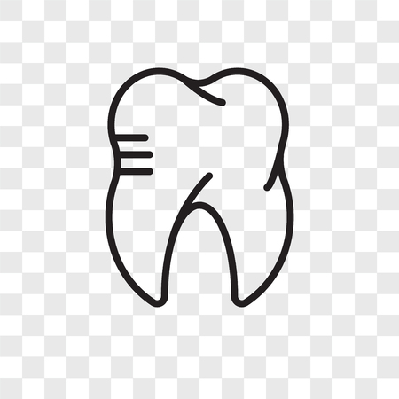 Molar vector icon isolated on transparent background, Molar logo concept
