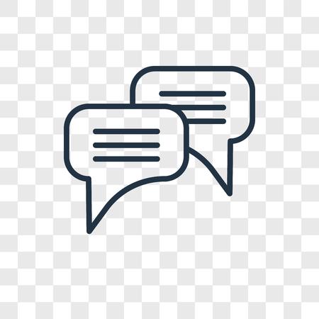 Icône de vecteur de chat isolé sur fond transparent, concept logo Chat