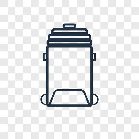 Bin vector icon isolated on transparent background, Bin logo concept Illustration