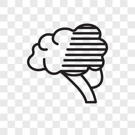 Brain vector icon isolated on transparent background, Brain logo concept Ilustracja