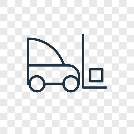 Forklift vector icon isolated on transparent background, Forklift logo concept Banque d'images - 107700741