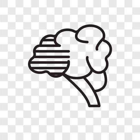 Brain vector icon isolated on transparent background, Brain logo concept Иллюстрация