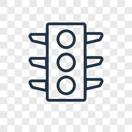 Traffic lights vector icon isolated on transparent background, Traffic lights logo concept