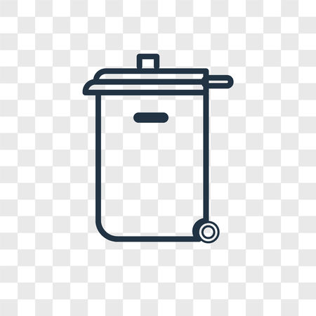 Recycle bin vector icon isolated on transparent background, Recycle bin logo concept Banque d'images - 107700672