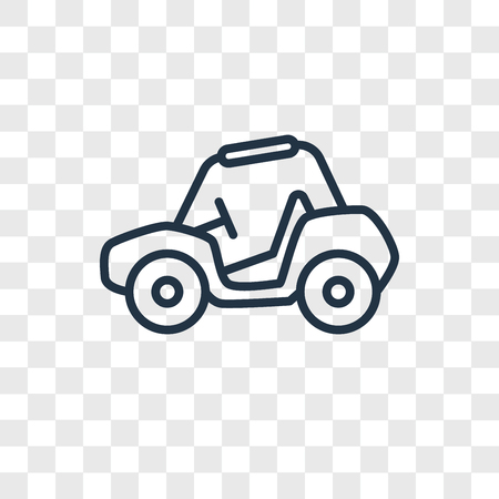 Buggy vector icon isolated on transparent background, Buggy logo concept Ilustração