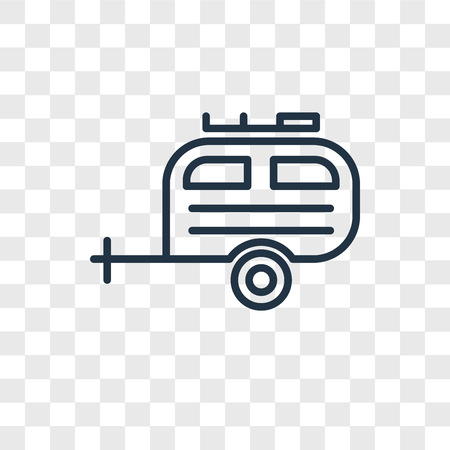 Camper vector icon isolated on transparent background, Camper logo concept