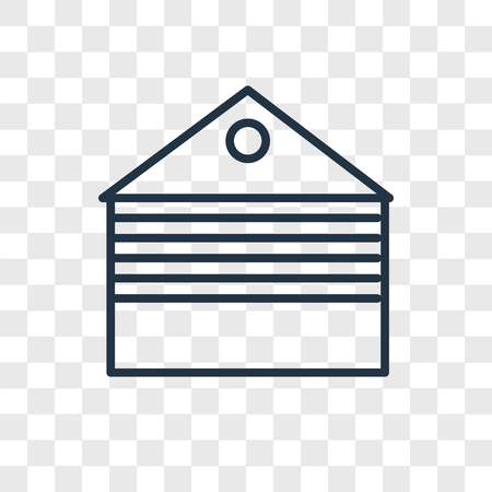 Garage vector icon isolated on transparent background, Garage logo concept