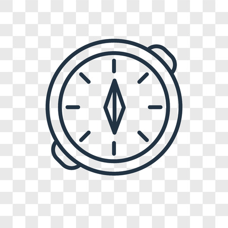Compass vector icon isolated on transparent background, Compass logo concept