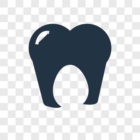 Tooth vector icon isolated on transparent background, Tooth logo concept Иллюстрация