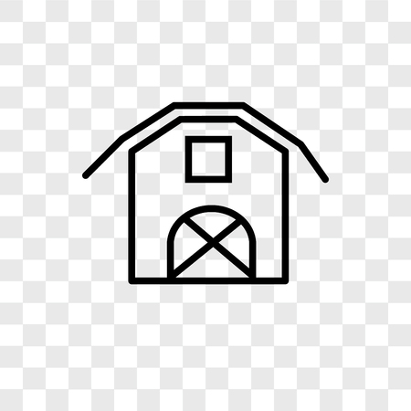 Barn vector icon isolated on transparent background, Barn logo concept