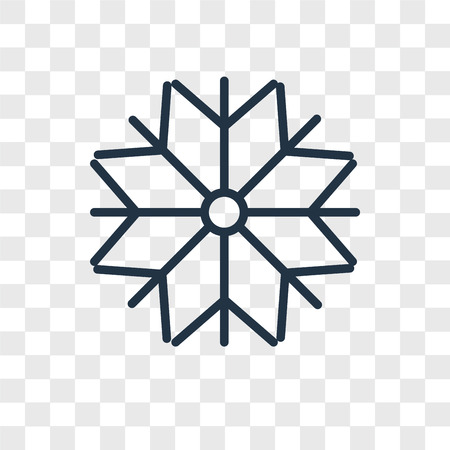 Snow vector icon isolated on transparent background, Snow logo concept