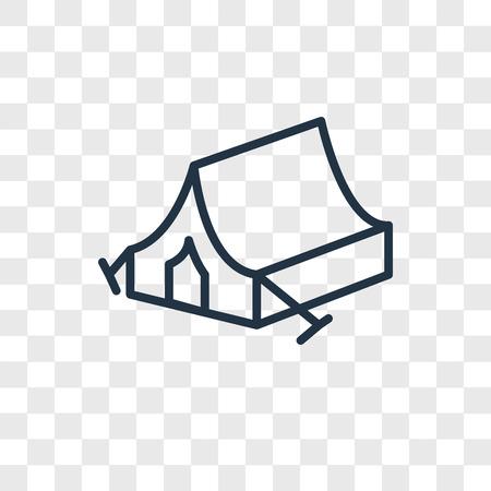 Icône de vecteur de tente de camping isolé sur fond transparent, concept logo tente camping