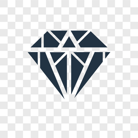 Diamond vector icon isolated on transparent background, Diamond logo concept 向量圖像