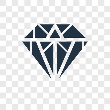 Diamond vector icon isolated on transparent background, Diamond logo concept Illustration