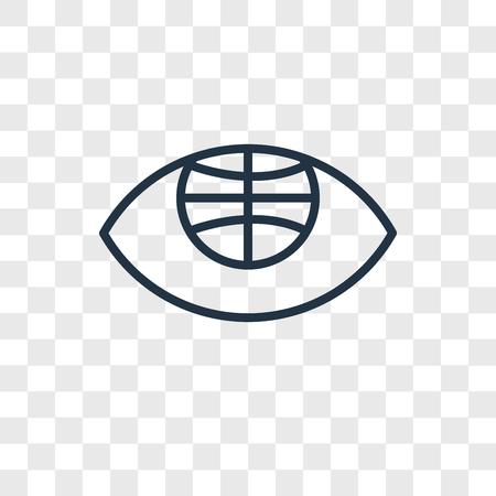 Globe vector icon isolated on transparent background, Globe logo concept Ilustrace