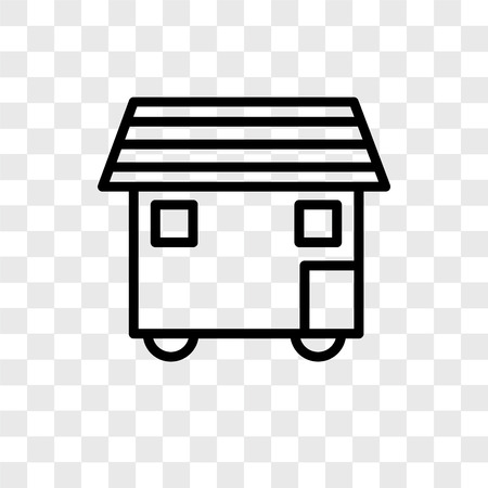 House On Wheels vector icon isolated on transparent background, House On Wheels logo concept Illustration