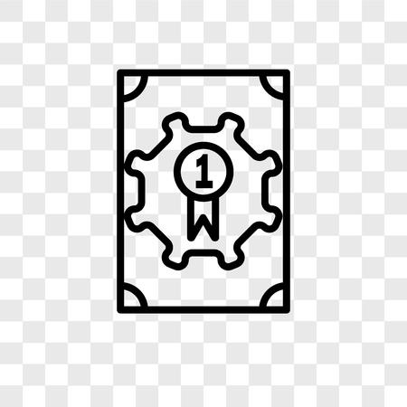 Award vector icon isolated on transparent background, Award logo concept Illusztráció