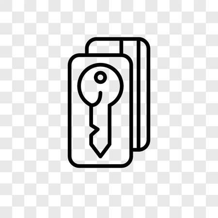Door key vector icon isolated on transparent background, Door key logo concept Illustration