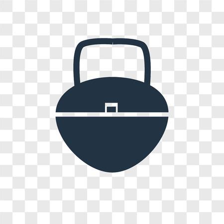 Handbag vector icon isolated on transparent background, Handbag logo concept