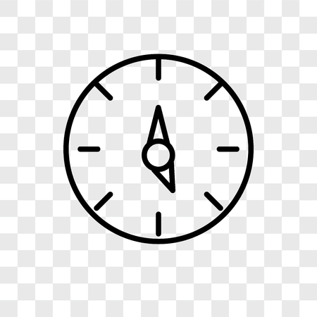 Time left vector icon isolated on transparent background, Time left logo concept Stock Illustratie