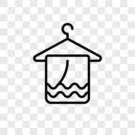Towel vector icon isolated on transparent background, Towel logo concept Illustration