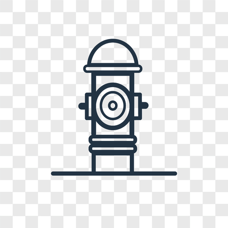 Hydrant vector icon isolated on transparent background, Hydrant logo concept