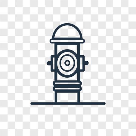 Icono de vector de hidrante aislado sobre fondo transparente, concepto de logo de hidrante