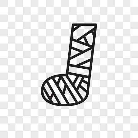 Icône de vecteur pied plaste isolé sur fond transparent, concept logo pied plaste