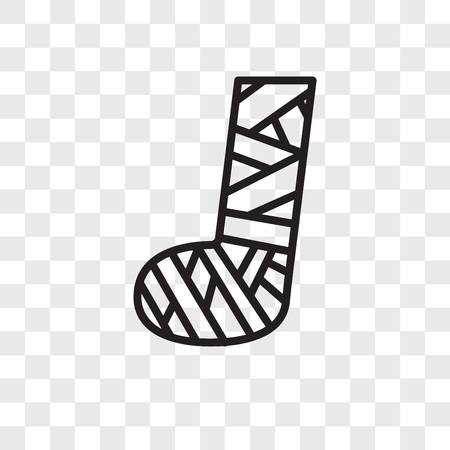 Plaste stóp wektor ikona na białym tle na przezroczystym tle, koncepcja logo Plaste stóp