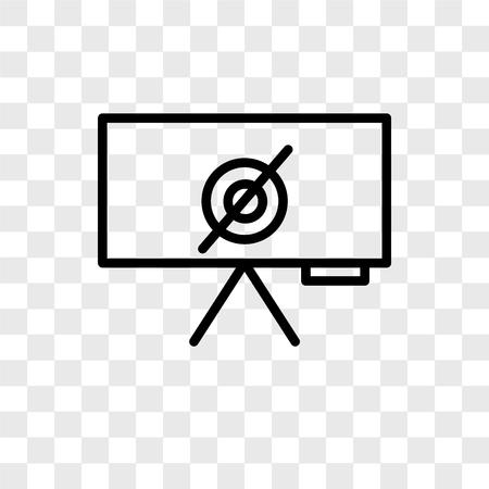 Empty set vector icon isolated on transparent background, Empty set logo concept