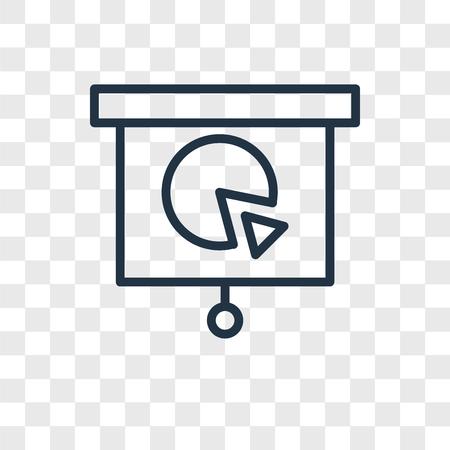 Presentation vector icon isolated on transparent background, Presentation logo concept Illustration