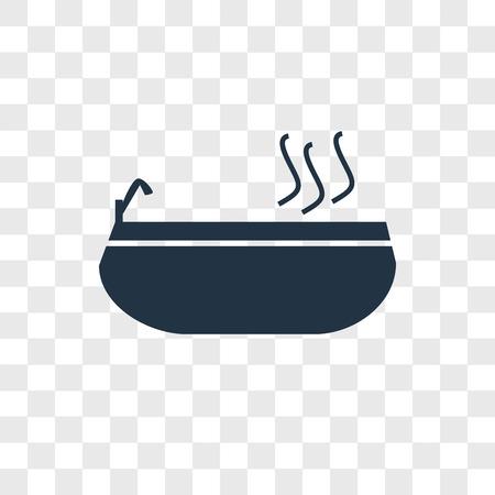 badewanne-Vektorikone lokalisiert auf transparentem Hintergrund, badewanne-Logo-Konzept