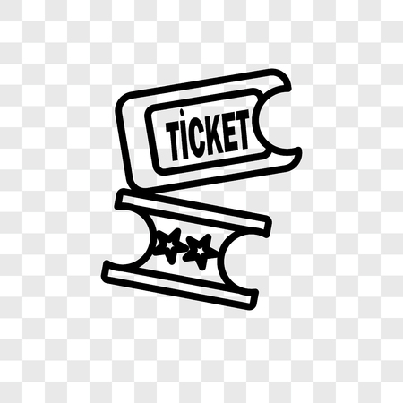 Ticket vector icon isolated on transparent background, Ticket logo concept 일러스트