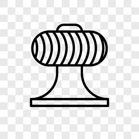 Ventilator-Vektorsymbol isoliert auf transparentem Hintergrund, Ventilator-Logo-Konzept Logo